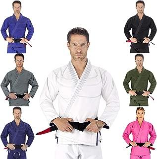 Elite Sports Essential IBJJF Ultra Light Brazilian Jiu Jitsu Adult BJJ Gi W/Preshrunk Fabric & Free White Belt