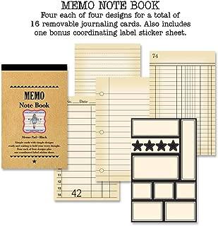 Jenni Bowlin Studio Memo Note Book 3-Inch by 4-3/4-Inch, Black