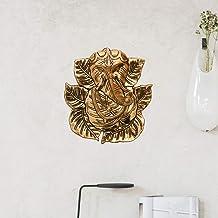 Collectible India Lord Ganesha Metal Wall Hanging Statue Hindu God Idol Ganesh Gold Finish Sculpture - Fengshui Vastu Good...
