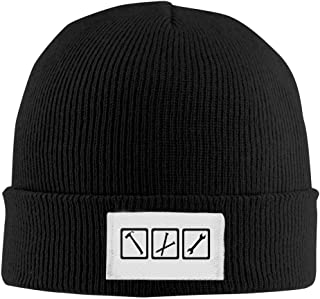 Adult Fashion Tools - Craftsman Rib Knit Caps Wool Hat.Head Cap Winter Hat