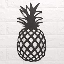 Pineapple Rustic Metal Wall Art Decor-Tropical Wall Sculpture for Kitchen, Bedroom, Living Room