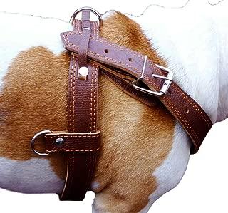 Genuine Brown Leather Dog Pulling Walking Harness XLarge. 33