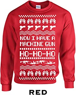 533 Now I Have a Machine Gun Ho Ho Ho Adult Crew Sweatshirt