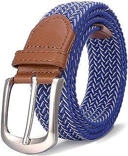 Elastic Braided Belt, Belt for Women, Women's Elastic Belt for Jeans, Blue