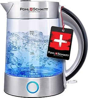 کتری برقی Pohl Schmitt 1.7L با فیلتر فولادی ضد زنگ 100٪ ارتقا یافته ، درب داخلی