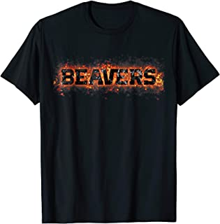 Oregon State Beavers Fire Text T-Shirt - Apparel