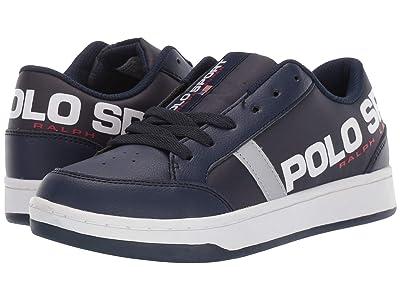 Polo Ralph Lauren Kids Belden (Big Kid) (Navy Tumbled/Nylon/Silver Reflective) Kids Shoes