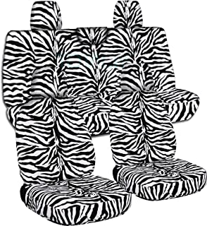 Totally Covers compatible with 2018-2020 Jeep Wrangler JL Animal Print Seat Covers: Zebra - Full Set: Front & Rear (29 Pri...