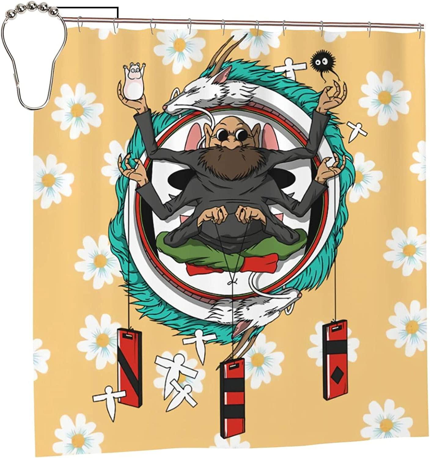 Spirited 70% OFF Outlet Away Anime Bathroom Sales for sale Shower Curtain H X W Liner 72