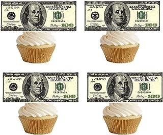 GEORLD 20 Precut 100 Dollar Bill Edible Money Image Wafer Paper for Cake Decorating Cupcake Decorations Precut Edible Paper Fake Money