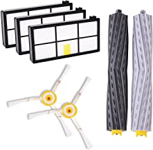 CSTATTOO Side Brushes Filters Extractors Replacement for iRobot Roomba 800 900 Parts-Include: 3 Filters, 2 Armed-3 Side Brushes, 1 Set Extractors fit 805 860 870 871 880 890 960 980 Robotic Vacuum