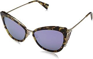 نظارة شمسية للنساء طراز Marc 263/S 3J O2V 56 من مارك جايكوبز، باللون البني (هافانا لامع/ازرق)
