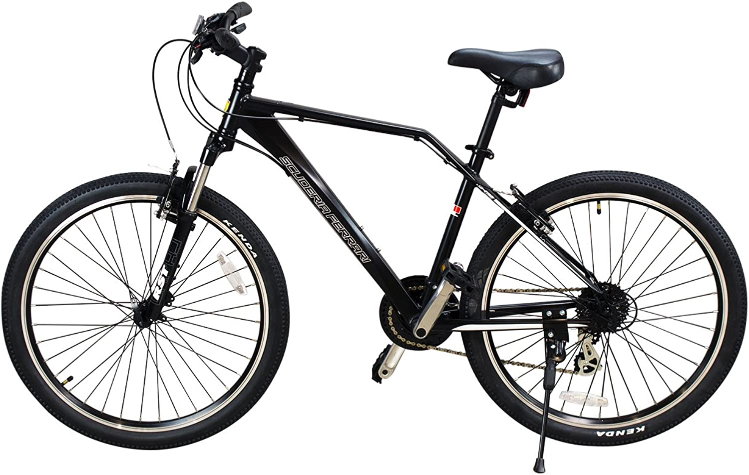 Ferrari® Alloy MTB Series 24speed Front Suspension Mountain Bicycle Bike (Black)