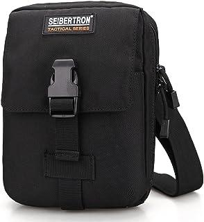 "Seibertron Tactical Military Waterproof Outdoor 7.9""Tablet Shoulder Waist Bag Leisure Wallet Everyday Bag Black"