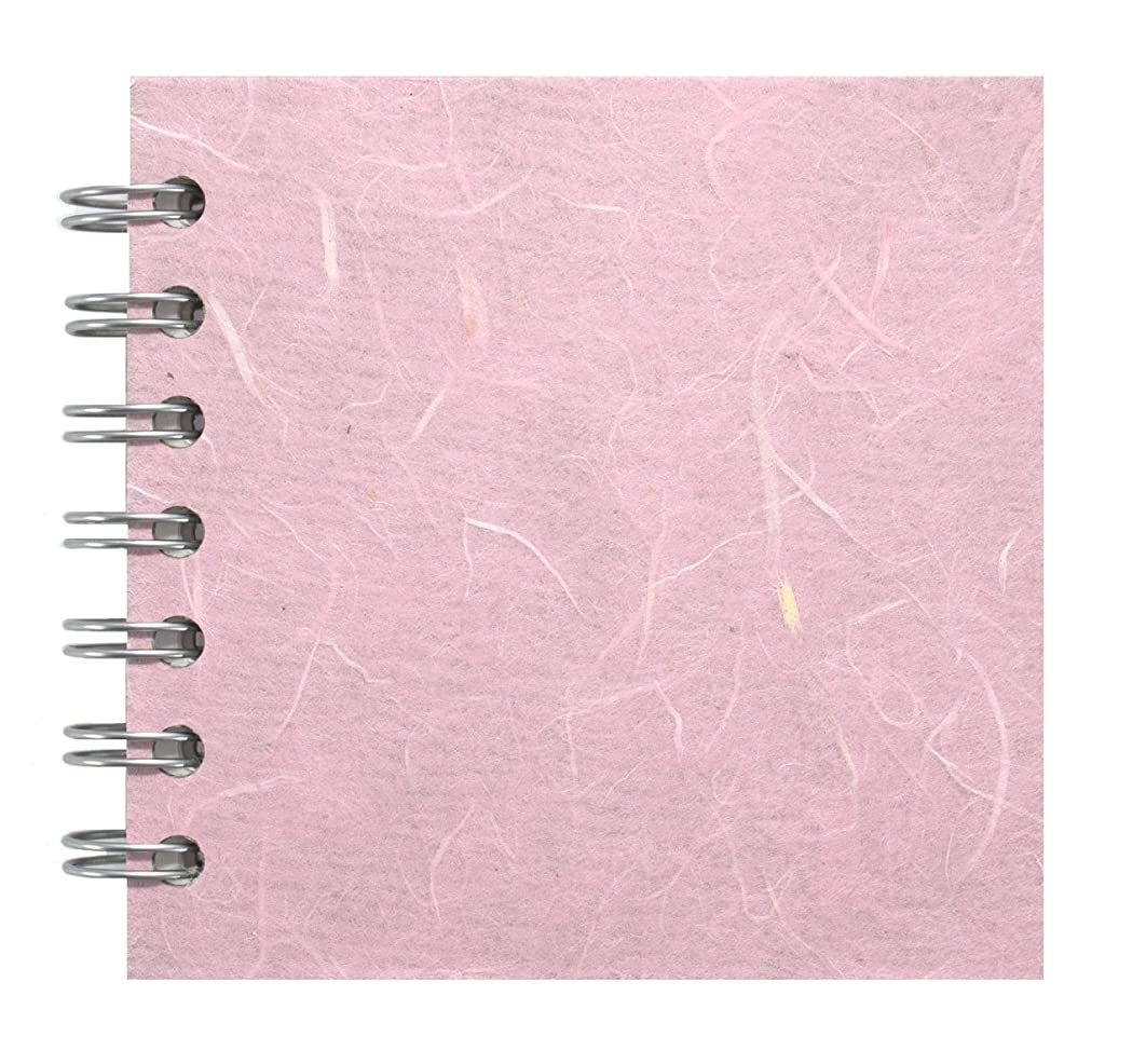 Zen Pink Pig, 4 x 4 Inch Square Sketchbook | 35 White Sheets, 100 Pound | Pale Pink
