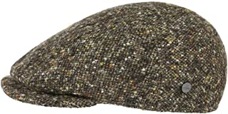 Lierys Virgin Wool Tweed Coppola Uomo - Made in Italy Berretto Piatto Cappello Invernale con Visiera, Fodera Autunno/Inverno