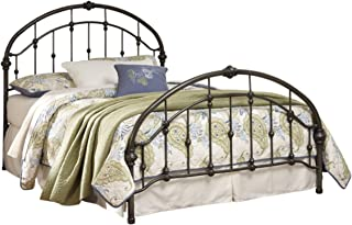 Ashley Furniture Signature Design - Nashburg Metal Bed - Complete Headboard and Footboard with Rails - King - Bronze Finish