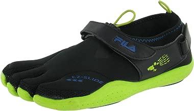 Fila Men's Skele-Toes Ez Slide Drainage Shoes,Black,11 M