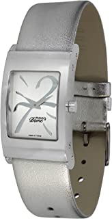 Moog Paris Dome Women's Watch with Silver/Gold/White/Black Dial, Silver/White/Blue/Black Strap in Genuine Leather