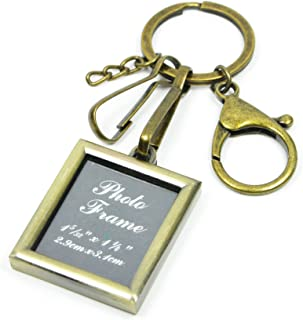 Classical Keychain Bronze Photo Frame Keyring (Rectangle)