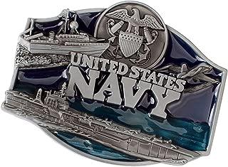 Baosity Blue Enamel Belt Buckle Navy Eagle For Cowboy Men's Leather Belt Canvas Waistband