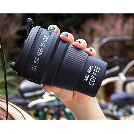All you need is love and more coffee Collapsible Coffee Cup Travel Mug