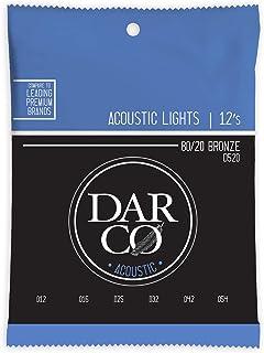 Darco Strings D520 - Cuerdas para guitarra acústica 80/20 (bronce 12-54)
