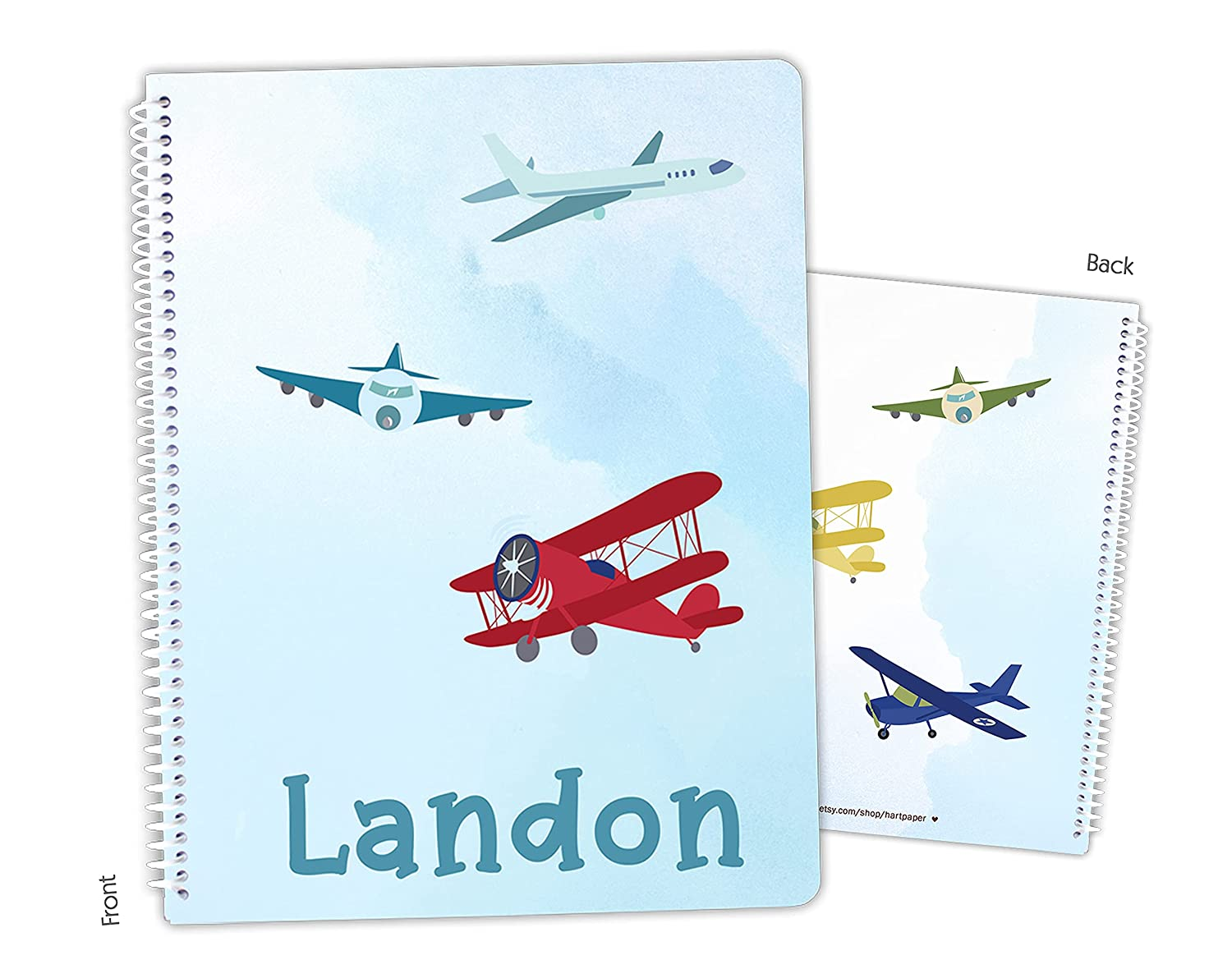 Max 45% OFF Personalized Airplane Plane Spiral Bound shopping Sketchbook Notebook