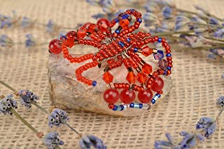 MadeHeart | Buy handmade goods Unusual Homemade Beaded Brooch Woven Bead Butterfly Brooch Gifts for her