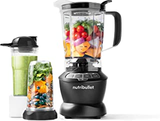 Nutribullet Full Size Blender + Combo 1000 Watts, 9 Piece Set, Multi-Function High Speed Blender, Mixer System with Nutrient Extractor, Smoothie Maker, Dark Grey, 2 Years Warranty