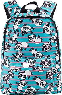 Cute Panda Backpack for Girls/Boys for School Lightweight Canvas Bookbag Rucksack for Kids