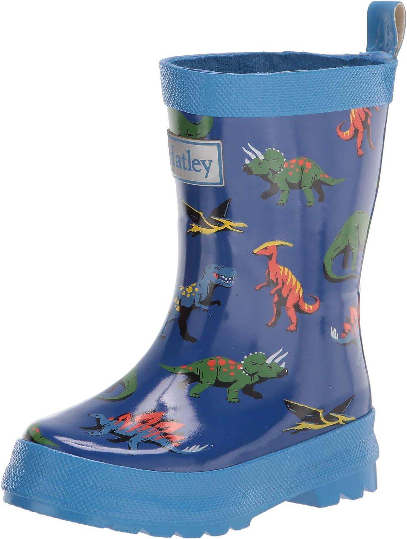 Toddler//Little Kid Hatley Boys Friendly Dinos Shiny Rain Boots