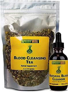 Natural Blood Cleanser Organic Supplement SpeedyVite® (Set: Tea & Liquid Drop Combo)