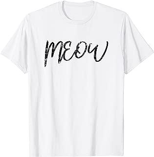 Women's Meow Shirt Funny Cat Meow T-Shirt