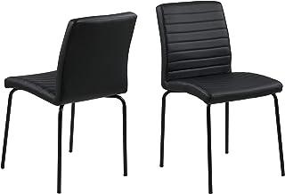 Marque Amazon - Movian Kander - Lot de 2chaises de salle à manger, 52 x 47 x 86,5 cm, Noir