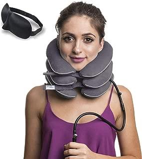 Cervical Neck Traction Device ✮ Inflatable Collar Brace ✮ Adjustable Neck Stretcher..