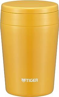 タイガー 魔法瓶 真空 断熱 スープ ジャー 380ml 保温 弁当箱 広口 まる底 サフランイエロー MCL-B038-YS Tiger