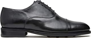 Timberlux New York Black Cap-Toe Oxford Shoes, Men Dress Shoes Goodyear Welted