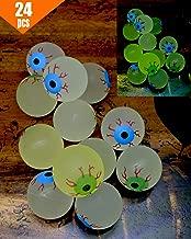 GIFTEXPRESS 24ct, 32MM Glow in The Dark Eyeball/Glow in The Dark Bouncing Ball/Halloween Supplies/ Halloween Treats/Halloween Toys/Toy Eyeball (24 pc Eyeball)