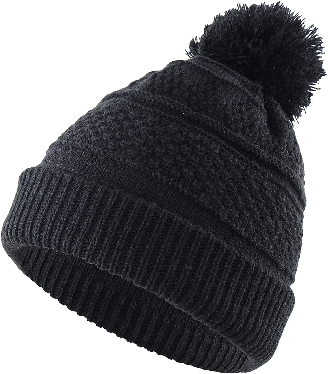 Home Prefer Toddler Winter Hat Warm Headwear Daily Beanie Cap Knitted Winter Caps for Boys Girls Black: Clothing, Shoes & Jewelry