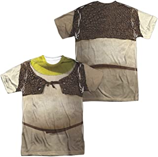 Costume (Front Back Print) Short Sleeve Shirt Adult Poly Crew