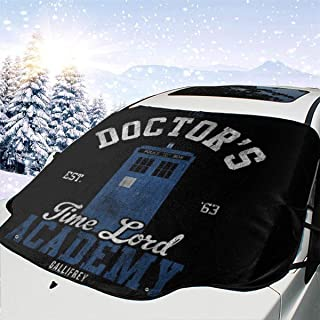 ENXIANGXIJ The Doctors Time Lord Academy Doctor Who Car Windshield Snow Cover, Ice Removal Sun Shade, Fit for Universal Cars (58'' X47'')