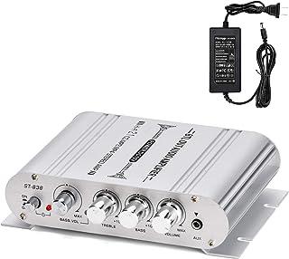 Facmogu ST-838 40W 2x20W Mini Digital Hi-Fi Power Amplifier, 2.1CH Subwoofer Amp Stereo Bass Audio Player with 12V 3A Powe...