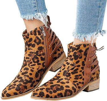 Swiusd Women's Ankle Booties Leopard