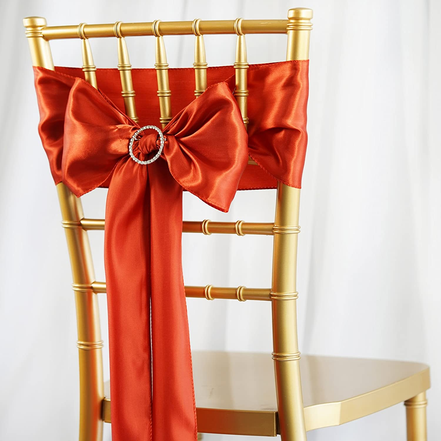 for 40 Satin Superior Chair Sashes Ties Same day shipping Ceremony Bows Wedding Party Recep