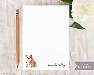 DOGS NOTEPAD - Personalized Stationery/Stationary/Pit Bull Shepard Bulldog Yorkie Aussie Chihuahua Bernese Retriever