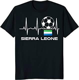 Sierra Leone Soccer Jersey Shirt Sierra Leone Flag Gift Tee
