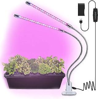 Sponsored Ad - Brite Labs LED Plant Lights for Indoor Plants, 20W Dual Head LED Grow Lights for Seedlings, Adjustable Goos...