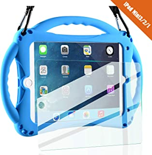 TopEsct iPad Mini Case Kids Shockproof Handle Stand Cover&(Tempered Glass Screen..