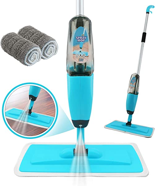 Spray Mop Strongest Heaviest Duty Mop Best Floor Mop Easy To Use 360 Spin Non Scratch Microfiber Mop With Integrated Sprayer Includes Refillable 700ml Bottle 2 Reusable Microfiber Pads By Kray